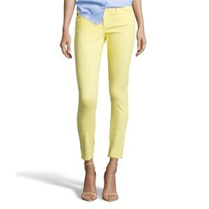 -Stained- yellow legging / ankle jeans